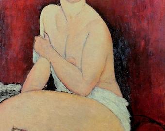 Amedeo Modigliani Large Seated Nude