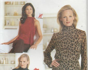 Fitted Top Pattern Sleeve Variations  Misses Size 6 - 8 - 10 uncut Butterick 6878 Chetta B