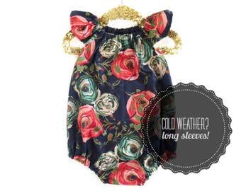 Floral Romper, Spring Girls Outfit, Spring Romper, Baby Girl Outfit, Baby Romper, Toddler Romper, Birthday Romper, Cake Smash