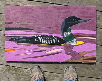 Loon - medium-size. COMES framed and glossed -Still updating the listing! :)