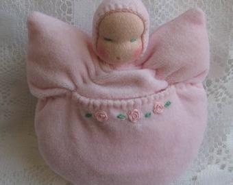 Waldorf Angel Doll,Waldorf Bunting Doll, Waldorf Dolls,Waldorf Tooth Fairy Doll, Guardian Angel Doll,Christening,Baby Shower,Toddler Doll