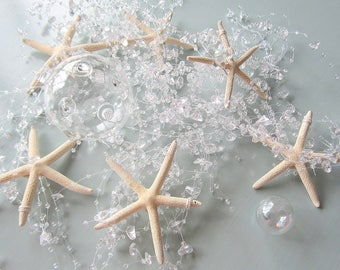 Starfish Garland Beach Decor, Beach Wedding Decor, Nautical Decor Beach Garland, Beach Christmas Garland, Beach Home Decor, CLEAR 5FT #BSFGC