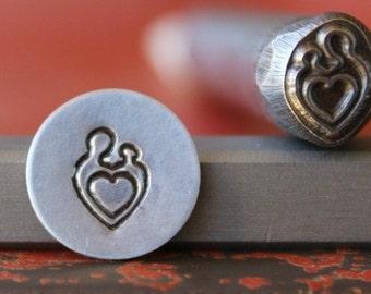 Mother And Baby Metal Metal Design Stamp - Metal Stamp - Metal Stamping and Jewelry Tool  SGDK-27