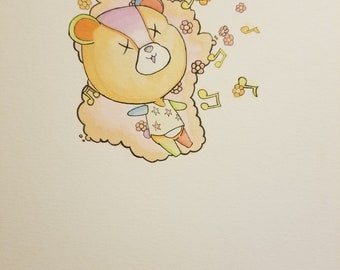 Stitches animal crossing watercolor painting