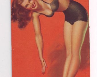 Printed in USA 1940's Pin Up Girl Mutoscope Card Moran Inflation Control