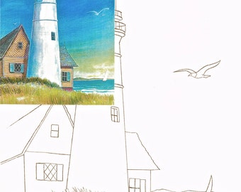 Lighthouse, Watercolor painting kit