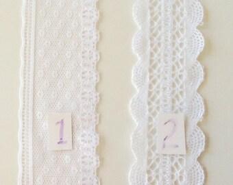 """1-3/4"""" White Flat Lace"""