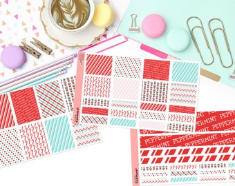 PEPPERMINT BLISS KIT Paper Planner Stickers!