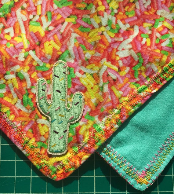 READY TO SHIP-SugarSpike-Sprinkle Cactus Snapback Bandana-Kawaii-Kitsch-Super Sweet Sugar Tooth Special-One Of A Kind