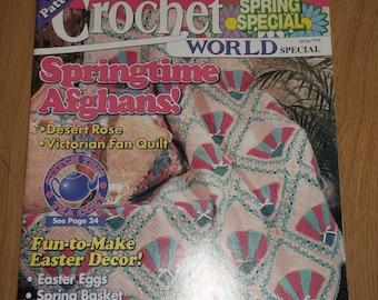 CROCHET WORLD SPECIAL Magazine Spring 1996 Easter Basket Eggs Bunny Patterns