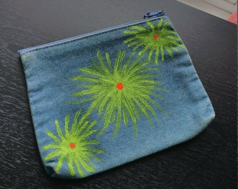 Hand Painted Upcycled Denim Purse