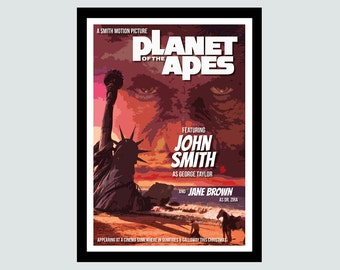 Personalised Planet of the Apes Movie Poster - UNFRAMED