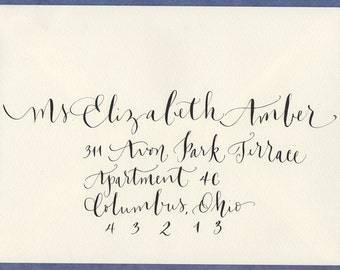 Wedding envelope addressing calligraphy for wedding or event invitation