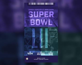 Super Bowl 2018 Text Message Invite