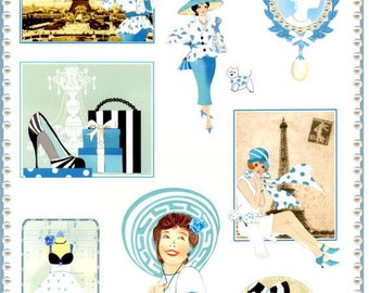 78 - Image sheet by cutting the belle epoque