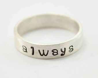 Sterling ALWAYS Ring Sterling Silver Band 925 Hand Crafted
