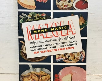 Mazola Menu Magic Cookbook - Vintage Cookbook