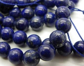 12 pearls 10 mm with Lapiz lazuli Blue 10mm