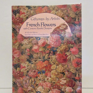 French Flowers Giftwrap for Artists Book Covers Crafts