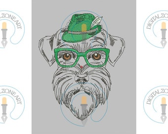 Schnauzer Dog Embroidery Design-Schnauzer Dog-Machine Embroidery Designs - INSTANT DOWNLOAD