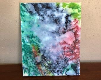 Abstract mixed media painting