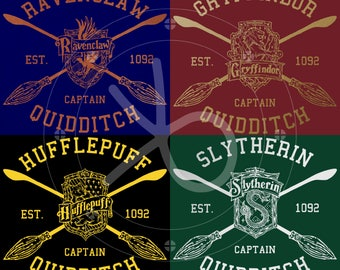 Harry Potter House Quidditch Tee