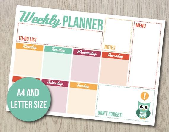 week planer
