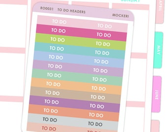 Rainbow To Do Headers / Planner Stickers