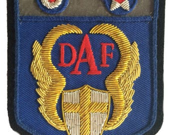 DAF Desert Air Force - Military bullion embroidered patch