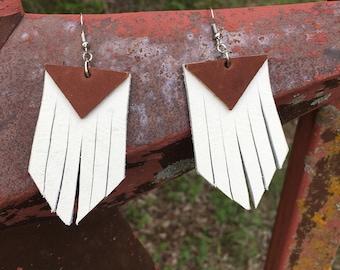 Western Fringe Leather Earrings