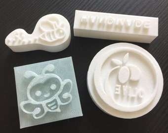 custom your logo - soap stamp custom - pottery stamp