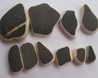 Ceramic Pottery Lot, Sea Glass Supply, Vintage Jewelry Supply, Art Craft Supply