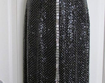 NIGHTLINE by Nahree' BLACK Beaded GOWN –Size 4