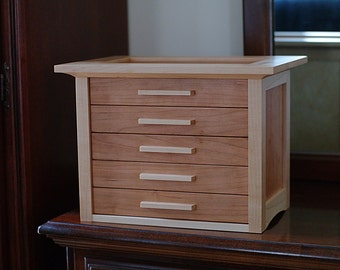 Maple and Cherry Mission Jewelry Box