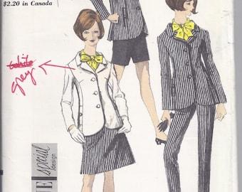 Vintage Vogue Pattern # 7147 from 1967.  Misses Jacket, Skirt, Pants and Shorts.  Vogue Special Design.  Bust 36