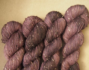 Coffee Beans Tweedy Merino - hand dyed yarn