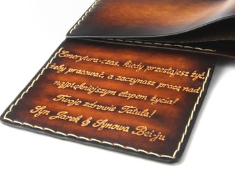 Personalized wallet for men, gift for him, mens leather wallet, quote wallet, quote engraved wallet, custom leather wallet, boyfriend gift