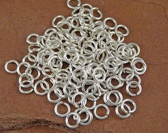 Sterling Silver Jump Rings - 70 16 gauge 4mm inner diameter Jump Rings (approx. 6.5mm outer diameter)