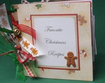 Christmas recipes scrapbook album