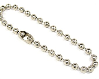 Necklace 9.5mm Ball Bead Chain 16, 18, 20, 22, 24, or 30 Inch Skater Biker Goth Surfer Rocker Punk