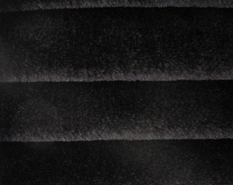 Quality 550S - Mohair - 1/4 yard (Fat) in Intercal's Color 124-Black.  A German Mohair Fur Fabric for Teddy Bear Making, Arts & Crafts