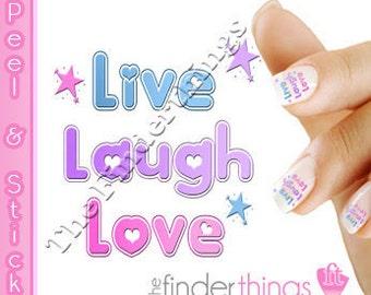 Live Laugh Love Nail Decal Sticker LIV101