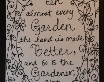 In Almost Every Garden - Original, One of a Kind Painting Page