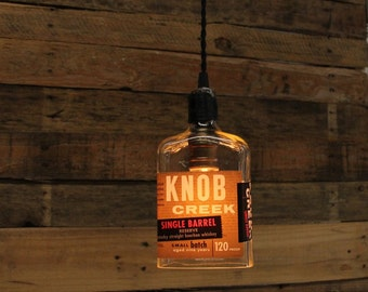 Knob Creek Pendant Ligh Bourbon Light, Whiskey Present, Guy Gift, Bourbon Lamp, Whiskey Bottle Light, Gift For Him, Father's Day Gift