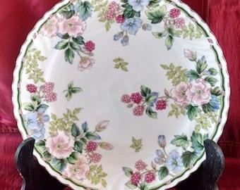 Cake Plate, Exceed Bon Grand Berry Design Made in Japan Porcelain , Vintage Ceramic Serving Plate, Porcelain Floral Design Platter