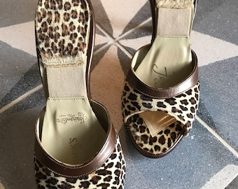1950's Early 60's Faux Leopard Springolators Great Condition VLV Bombshell
