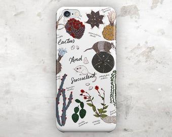 Cactus iphone 8 case, Geometric iphone 8 plus case, iphone 7 case, iphone 7 plus case, iphone 6s case, iphone 6s plus case, iphone 6 case