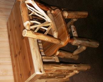 CEDAR LOG DESK - Cedar Log Writing Desk
