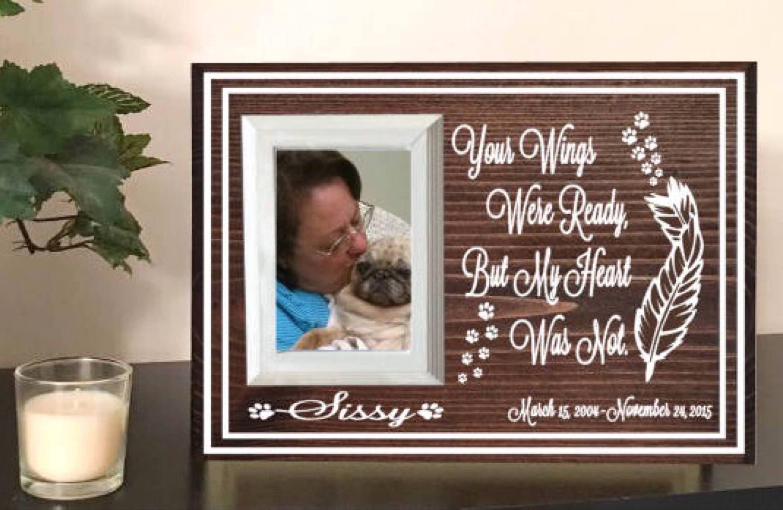 Pet memorial frame - dog memorial - pet loss gift - pet remembrance ...