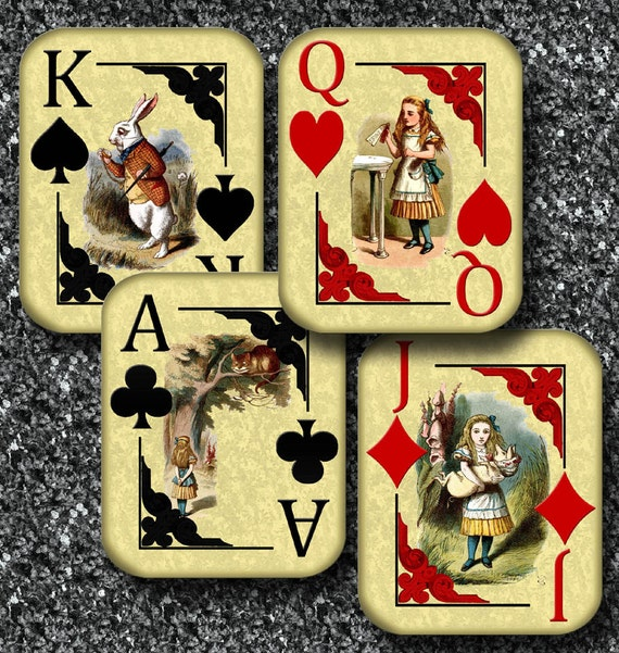 Alice In Wonderland Playing Card Signs 4x5 Jack